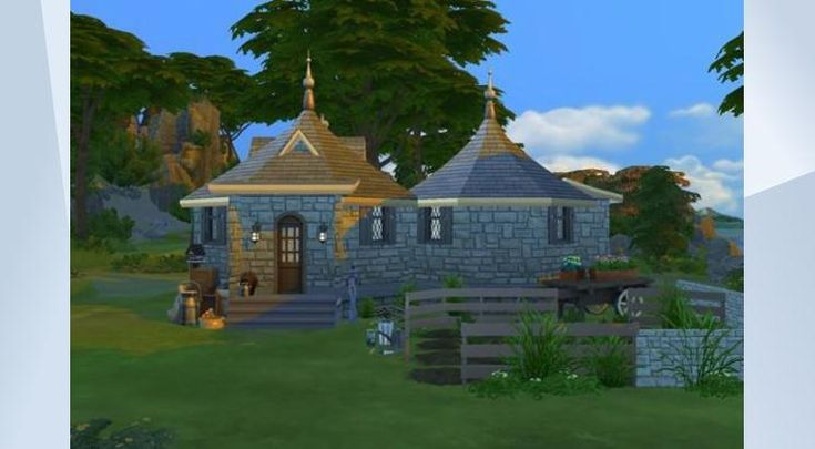 Check out this lot in The Sims 4 Gallery! - Hogwarts is not the same without Hagrid, and he needs a place to sleep right? Unfortunatly, the pumpkin field is not ready to harves due to lack of packs, but feel free to add them and make it more complete
