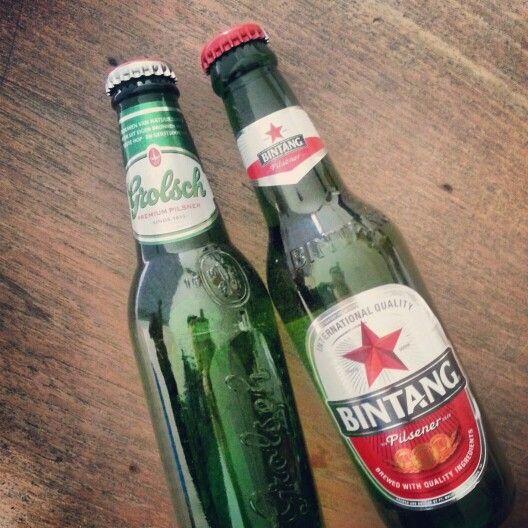 Bintang bir meets Grolsch beer