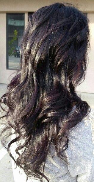 Dark Eggplant hair color