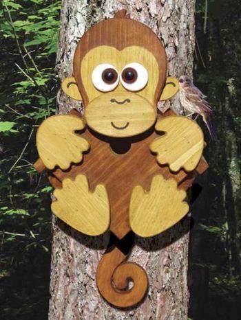 19-W3615 - Tree Monkey Woodworking Plan