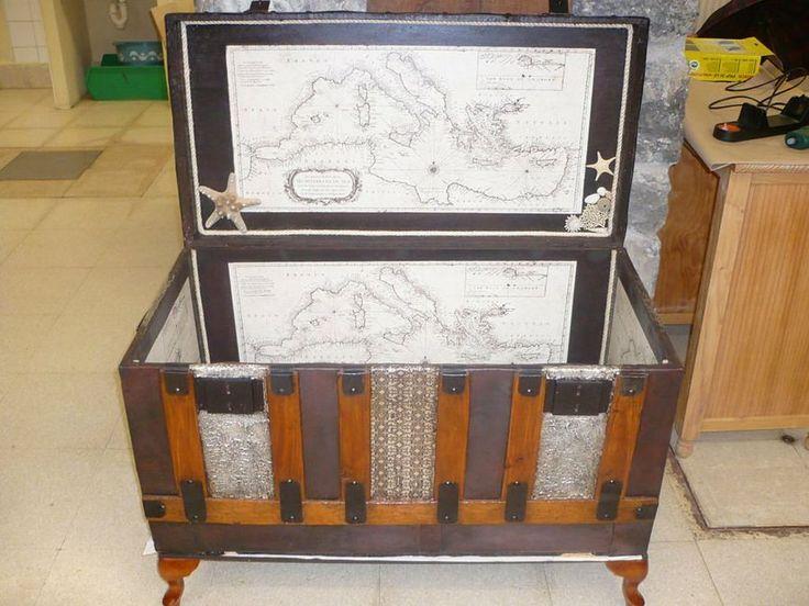 M s de 25 ideas incre bles sobre arcas en pinterest - Baules con ruedas ...