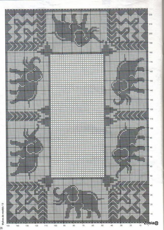 Cross Stitch monochrome