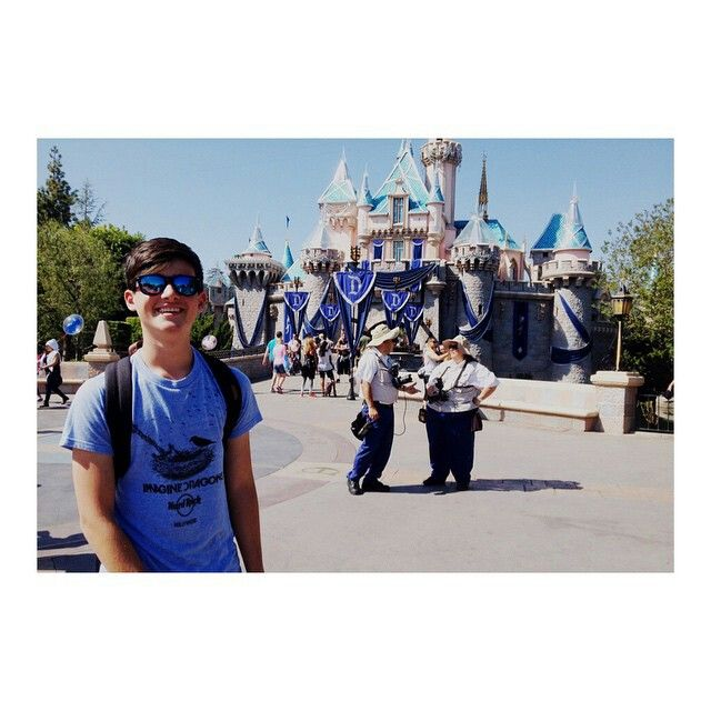 Chris at Disneyland in California. The happiest place on Earth.