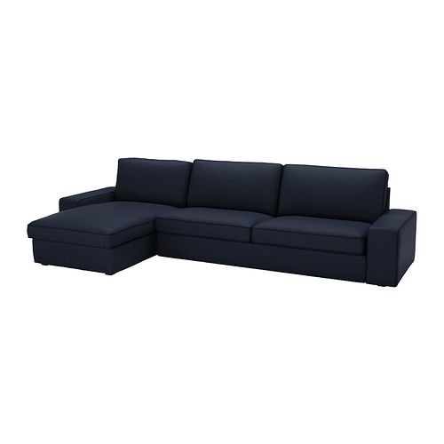 kivik sofa and chaise lounge dansbo dark gray. Black Bedroom Furniture Sets. Home Design Ideas