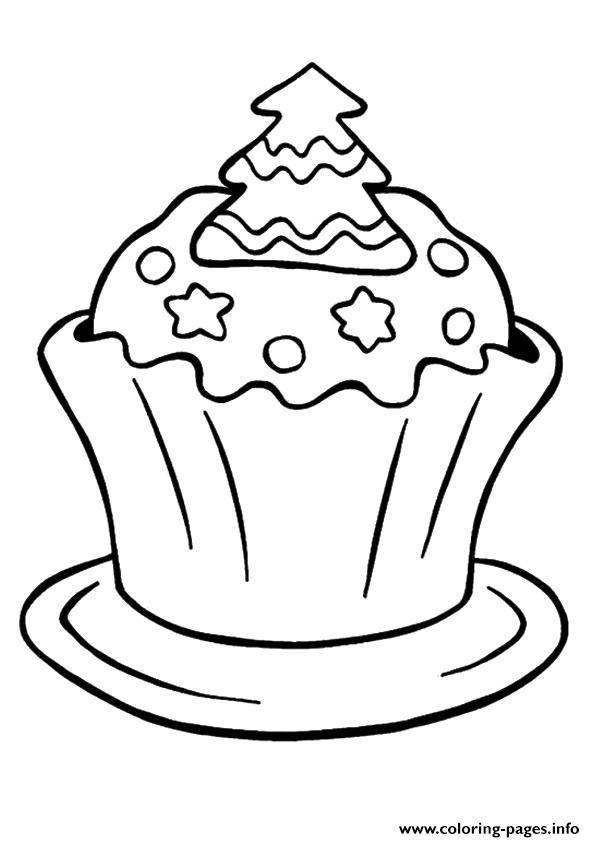 Print Christmas Cupcake Coloring Pages Cupcake Coloring Pages Leaf Coloring Page Cool Coloring Pages