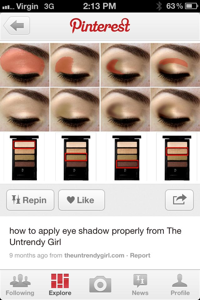 How to apply eyeshadow properly