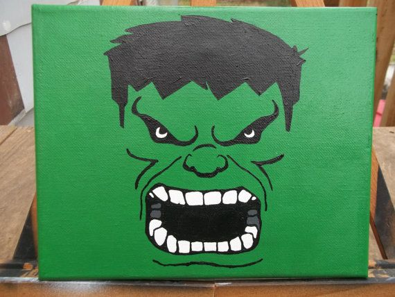 Incredible Hulk 8x10 Acrylic Painting by SnailCreations on Etsy