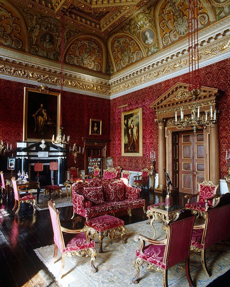 Houghton Hall -Home of Britain s 1st Prime Minister Sir Robert Walpole. 1720s. Check website for even more colourful rooms
