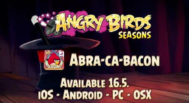 Rovio tocmai a anunțat cea mai recentă actualizare pentru Angry Birds Seasons.