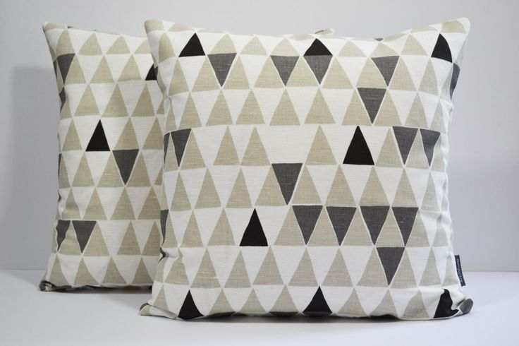 Scandinavian Geometric fabric cushion cover - Jaffa Natural by Andshine on Etsy