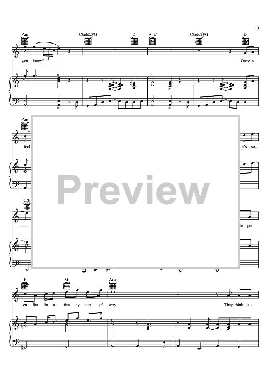 Madman Across The Water Sheet Music Preview Page 3