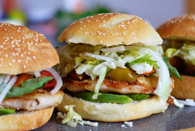Cemitas: delicious pork and avocado sandwiches from Puebla, Mexico. Original recipe for buns included.