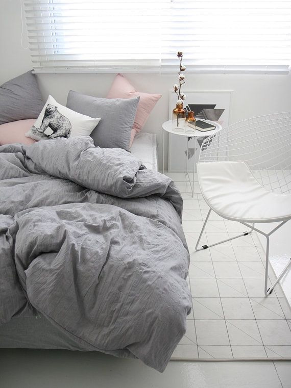 Bedding Ideas Enchanting Best 25 Gray Bedding Ideas On Pinterest  Gray Bed Beautiful Review