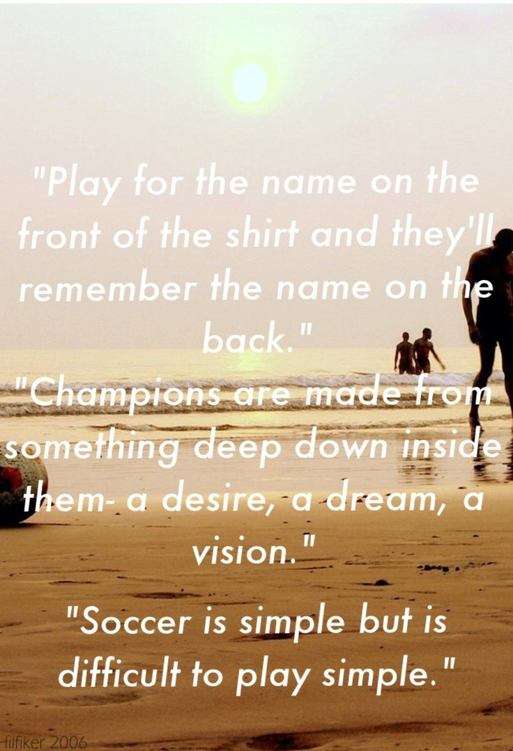 Soccer Quotes About Love .