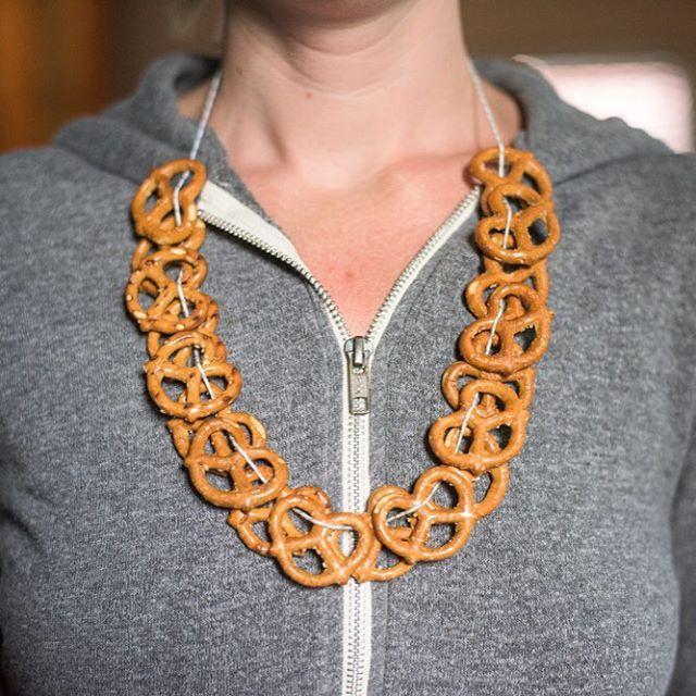pretzel necklace