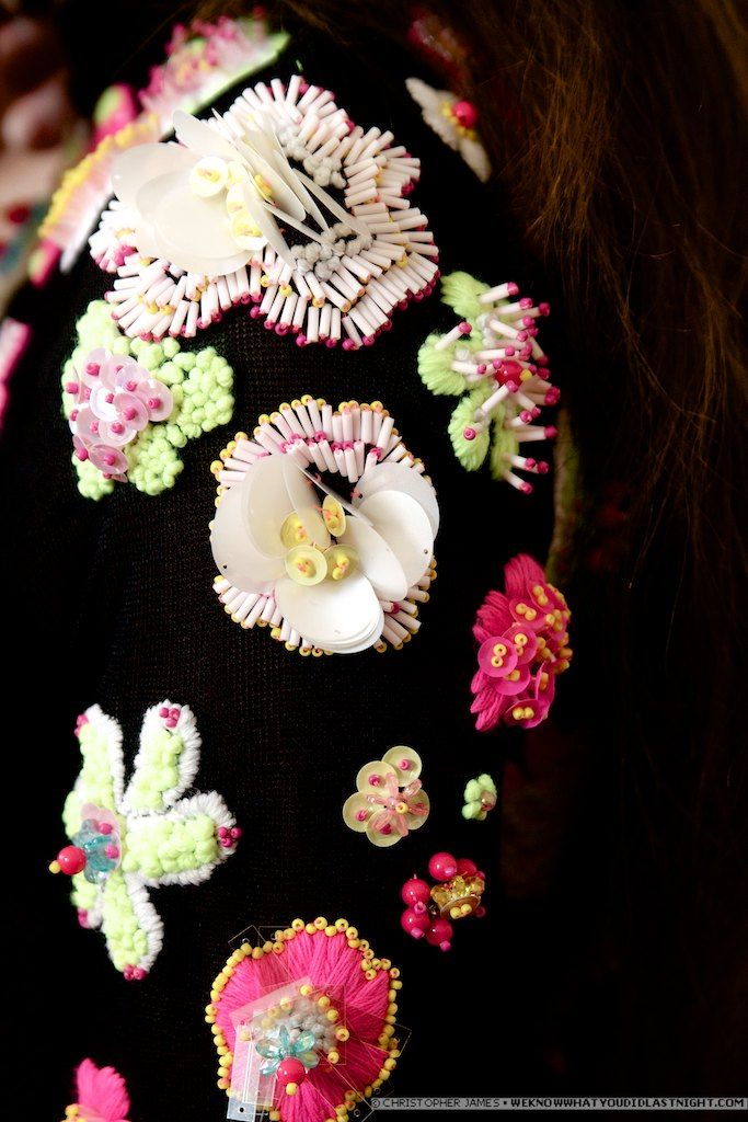 Love love love the beading /// S/S13 at Sister by Sibling #LondonFashionWeek #2013