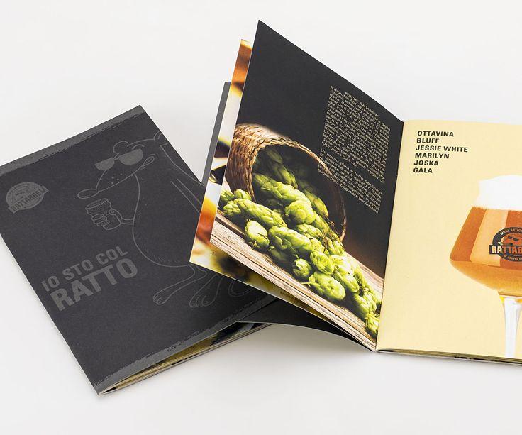 #Crush #Favini #Booklet Rattabrew - Io sto col ratto / Birrificio Rattabrew Srl / Printer: Tipografia Badiese http://www.tipografiabadiese.it/ - Find more on Crush http://www.favini.com/gs/carte-grafiche/crush/cos-e-crush/