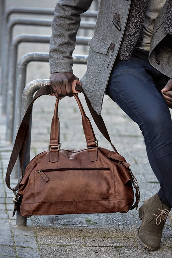 Gents Leather Holdall - Mat & May