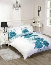 3ps duvet cover quilt Con Fundas De Ropa de cama tamaño king de diseño de encaje blanco y verde azulado