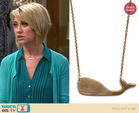 Riley's teal green pintuck shirt and gold whale necklace on Baby Daddy.  Outfit details: http://wornontv.net/17182/