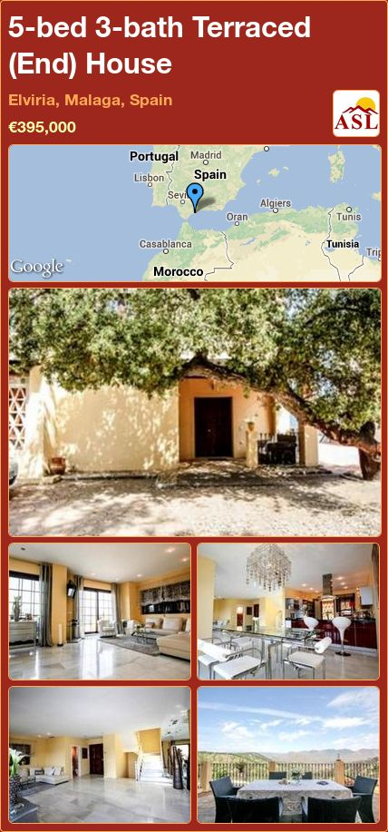 5-bed 3-bath Terraced (End) House in Elviria, Malaga, Spain ►€395,000 #PropertyForSaleInSpain