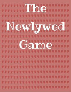 Newlywed game - how well do you know your spouse?  Answer these questions then answer them for your spouse.  Compare answers at the end