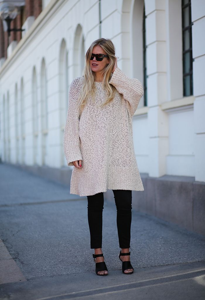 XL knit black jeans fashion cline heels elen kristvik fuss  blogger