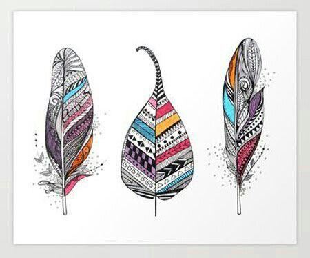 Indian feather tatoo..
