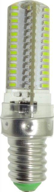 Cele mai mici dimensiuni pentru un bec dulie E14 le gasiti la  BECUL LED E14 5W SILICON SMD 3014 disponibil in doua variante de temperaturi de culoare. Este recomandat pentru corpurile mici de iluminat, plafoniere, aplice sau abajururi mici.