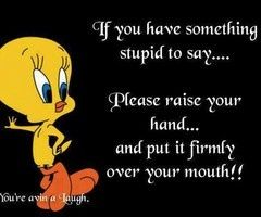 tweety bird quotes | Tweety Bird~~so many people have scars from insults, criticism, and sharp tongued remarks!