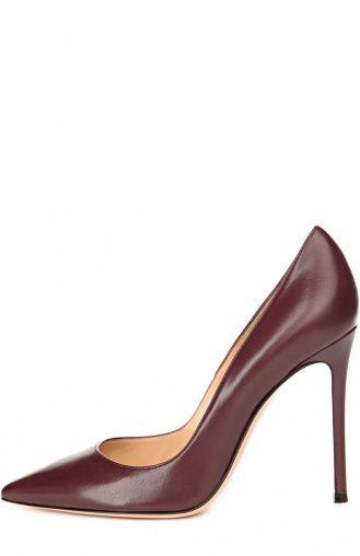 Женские красные кожаные туфли gianvito 105 на шпильке Gianvito Rossi, сезон SS…