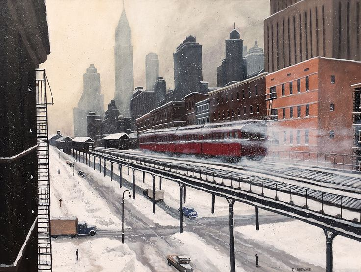 """""""3rd Avenue El"""" #New #York City.    www.daverheaume.com"""