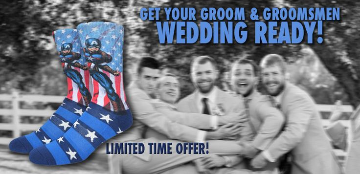 It's time to pick your wedding socks and we have a deal for you! Check it out, it only lasts until 1/16!
