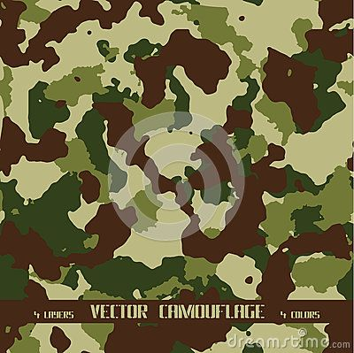 Vector forest camouflage background. Army and hunting.