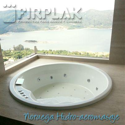 ¡Plan para el fin de semana! Excelente vista a través de nuestro #hidromasaje Noruega. ¿Qué te parece? www.firplak.com
