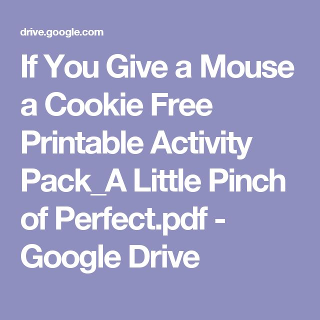 if you give a mouse a coffee pdf