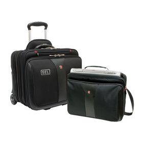 "Wenger - PATRIOT 2-Piece Business Set Premium construction and an upgraded removable laptop case make the 2-in-1 Patriot the complete package 17""W x 15.5""H x 11.5""D - Price: $126.00/ea (Qty: 95)"