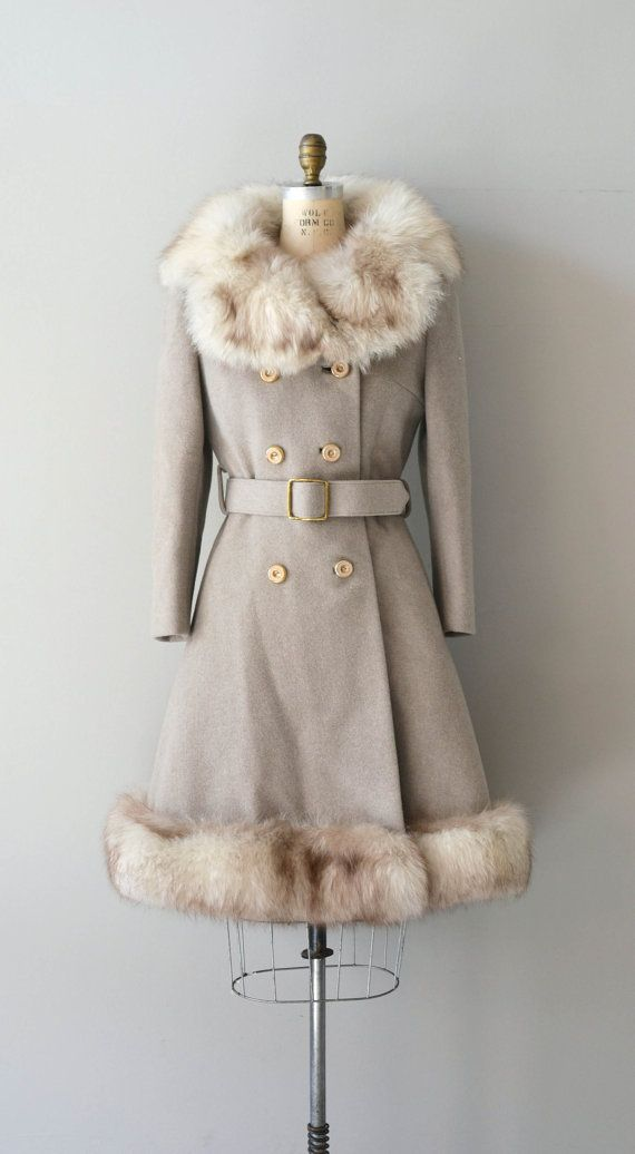 Northern Star winter coat vintage 1960s fox fur by DearGolden
