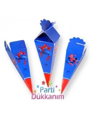 Spiderman Şeker, Lokum Külahı (10 adet)