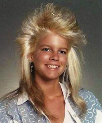 Typische frisur der 80er