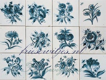 Bloemen tableaus op Friese witjes