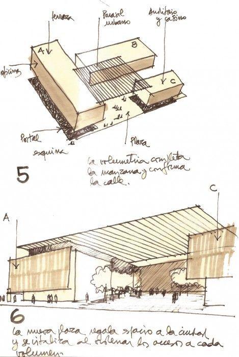 Sketches for the Edificio MOP Rancagua in Rancagua, Chile by Iglesis Prat Arquitectos & Tau 3 Arquitectos: