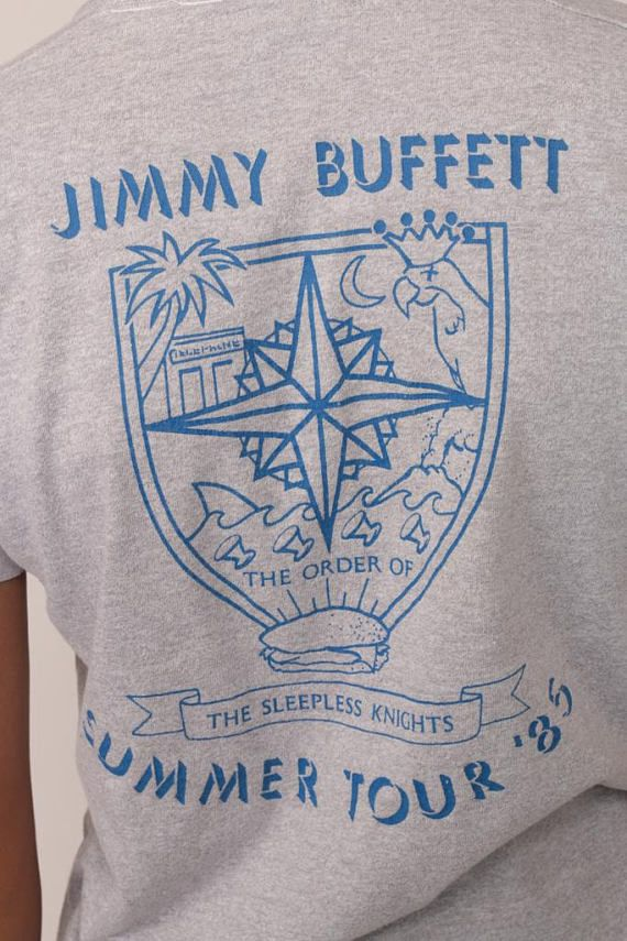 Jimmy Buffett Shirt 80s Band Tshirt 1985 Tour T Shirt