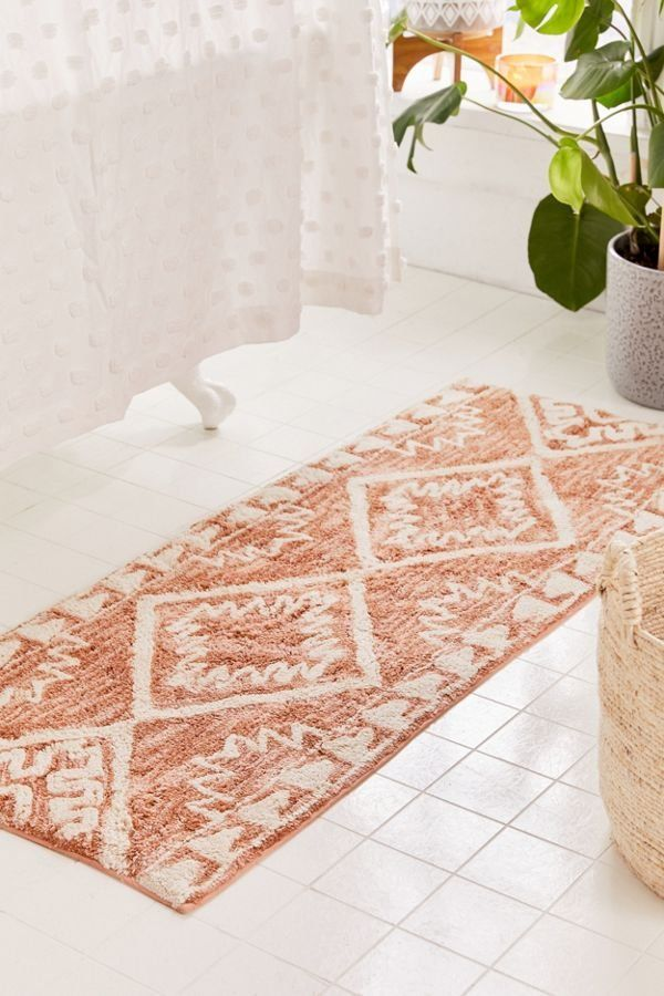 Sienna Kilim Bath Mat Small Bathroom Decor Boho Bathroom Bathroom Rugs