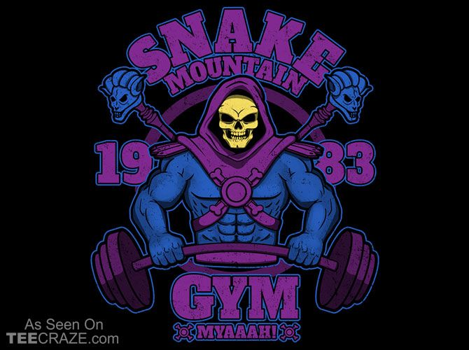 Snake Mountain Gym T-Shirt Designed by JozVoz