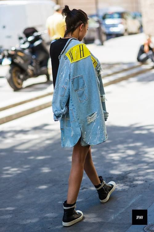 Off white denim dresses for women