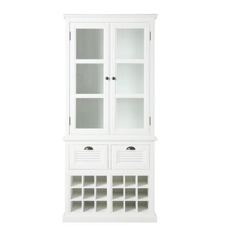 Vermont Display Cabinet with Wine Storage | Freedom Furniture and Homewares