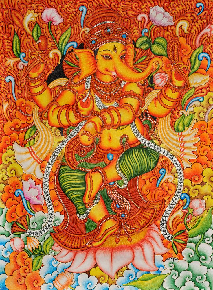 1467 2000 mural paintings pinterest On mural art of ganesha