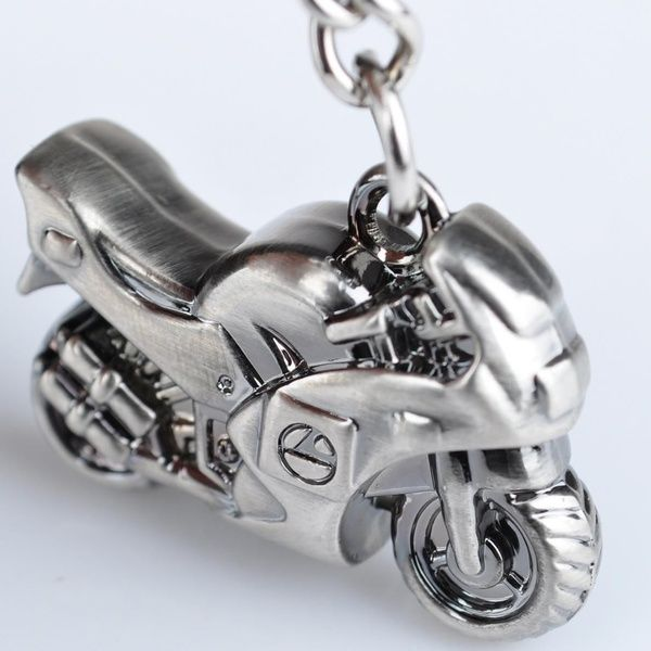 1pc Metal Motorcycle Bike Scooter Keychain Keyring Creative Gift