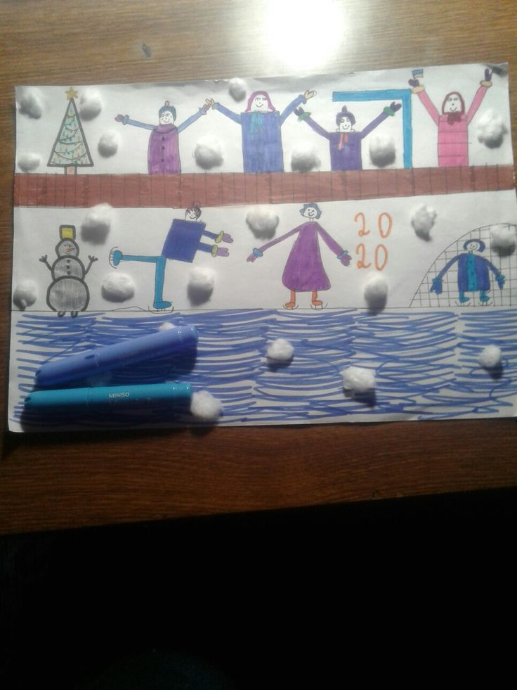 Это нарисовала моя младшая сестра. Ей 8 лет. Оцените ...